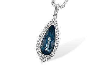 A226-03464: NECK 2.40 LONDON BLUE TOPAZ 2.65 TGW