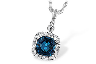 B226-01637: NECK 1.63 LONDON BLUE TOPAZ 1.80 TGW