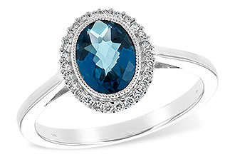 C226-01655: LDS RG 1.27 LONDON BLUE TOPAZ 1.42 TGW