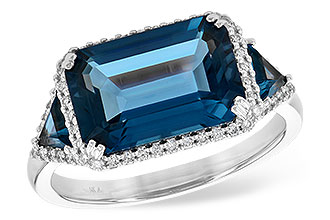 C226-93491: LDS RG 4.60 TW LONDON BLUE TOPAZ 4.82 TGW