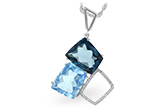 D225-16209: NECK 10.60 BLUE TOPAZ 10.73 TGW