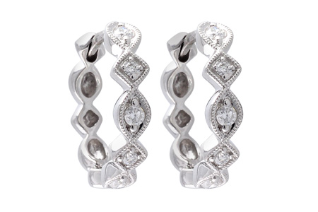 G037-82545: EARRINGS .22 TW