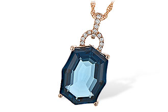 G226-08991: NECK 11.75 LONDON BLUE TOPAZ 11.85 TGW