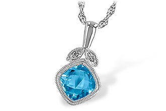 H223-34400: NECK 1.05 BLUE TOPAZ 1.06 TGW