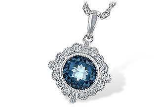 K226-03500: NECK .98 BLUE TOPAZ 1.10 TGW