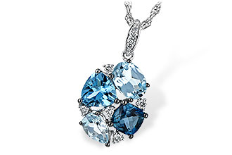 L226-01636: NECK 2.60 BLUE TOPAZ 2.70 TGW